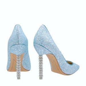 NEW Sophia Webster Light Blue Glitter Pumps $595
